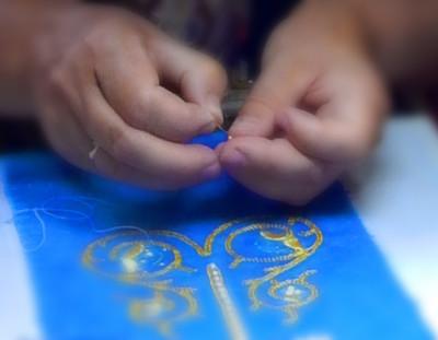 Уроки в златошвейной мастерской