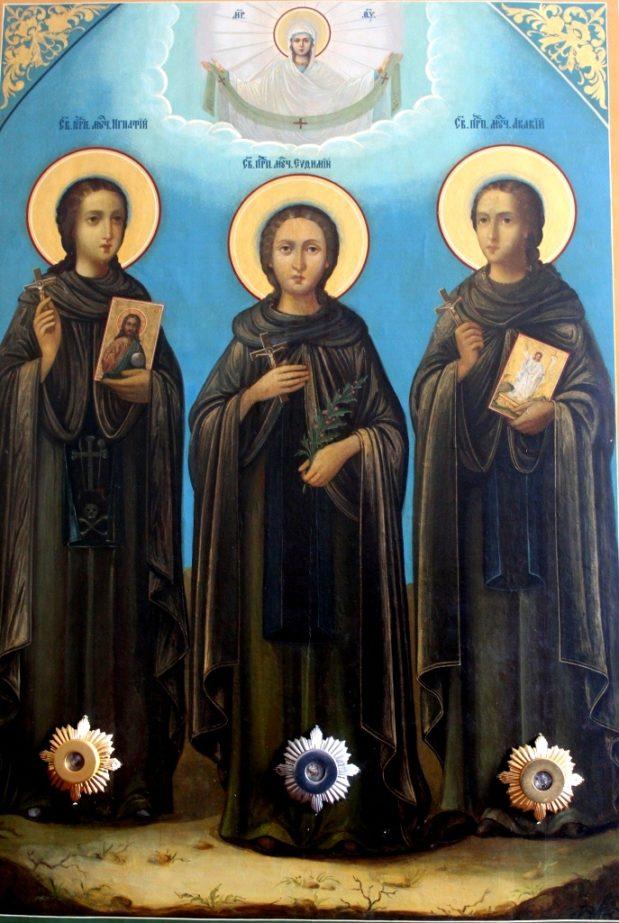 14 мая — Память святых преподобномучеников Афонских  Евфимия, Игнатия и Акакия